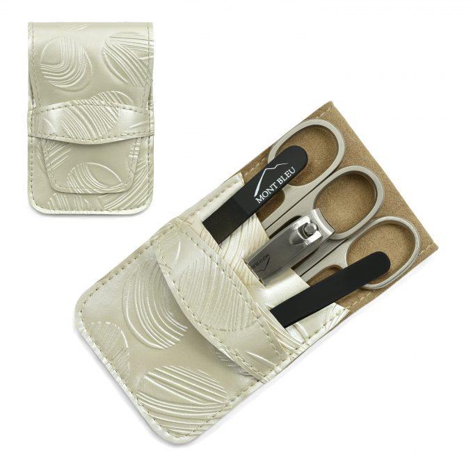 Mont Bleu 5-częściowy zestaw do manicure w wegańskim etui ze sztucznej skóry, Mike