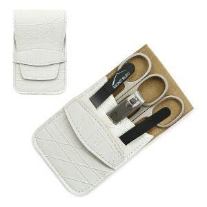 Mont Bleu 5-piece Manicure Set in Vegan Faux Leather Case, White