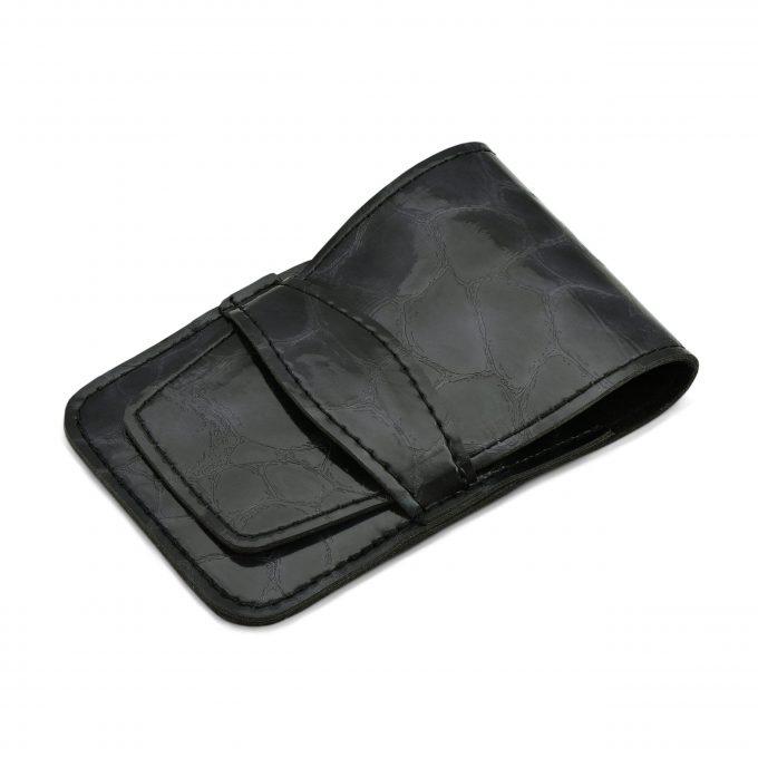 Mont Bleu 5-piece Manicure Set in Vegan Faux Leather Case, Black 'Anna'