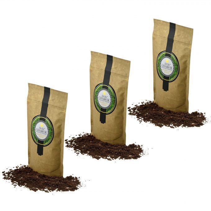 Oli-Oly Exfoliating Coffee Scrub with Cannabis Oil, 80g