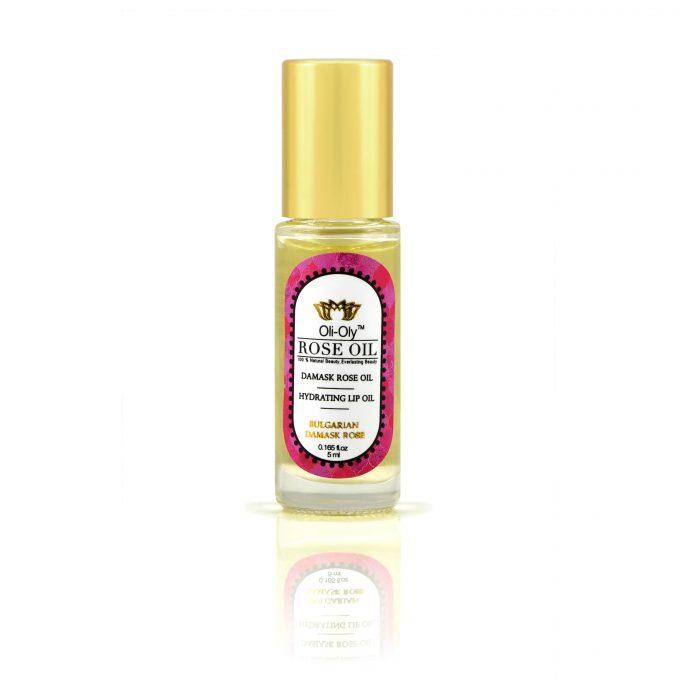 Oli-Oly Nawilżający olejek do ust z olejkiem różanym, 5 ml, słodki zapach