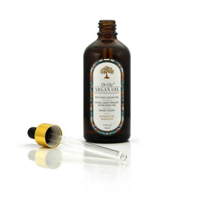 Oli-Oly 99% Olejek Arganowy do Włosów, Twarzy i Ciała, 100 ml, Słodki Zapach