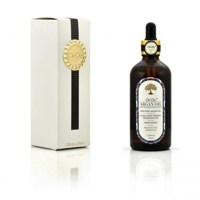 Oli-Oly 99% Argan Oil for Hair, Face and Body Skin, 100 ml, Fresh Scent