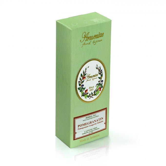 Armeniac Pomegranatin – 100% naturalna, dzika, sypana herbata ziołowa w T-Stick