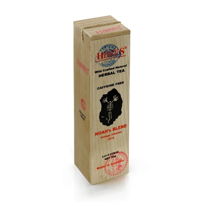 Ancient Herbals Mieszanka Noego – 100% naturalna, dzika, sypana herbata ziołowa w drewnianym pudełku, 25 g