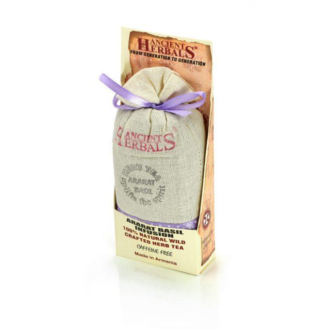 Ancient Herbals Ararat Basil – 100% naturalna dzika stworzona z sypkich liści herbata ziołowa w bawełnianej torebce, 50 g