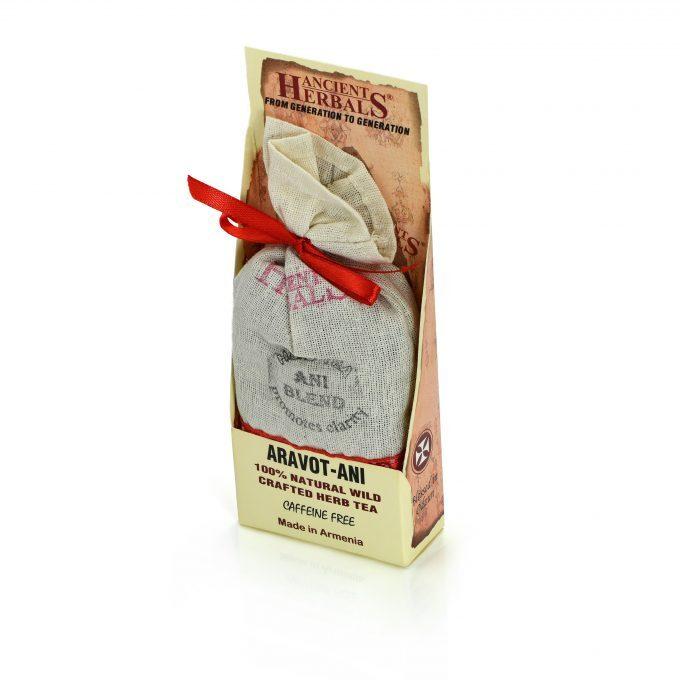 Ancient Herbals Aravot Ani – 100% naturalna dzika stworzona z sypkich liści herbata ziołowa w bawełnianej torebce, 50 g