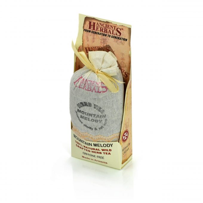 Ancient Herbals Mountain Melody – 100% Natural Wild Crafted Loose Leaf Herbal Tea in a Cotton Bag, 50 g