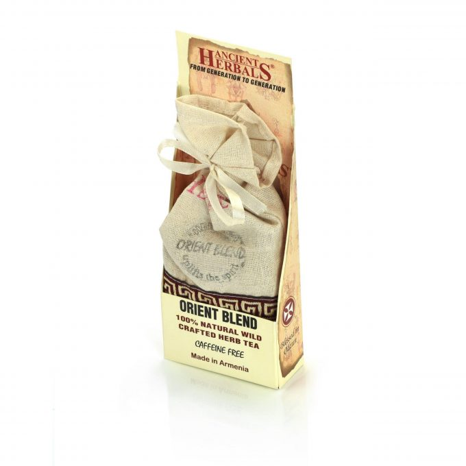 Ancient Herbals Orient Blend – 100% Natural Wild Crafted Loose Leaf Herbal Tea in a Cotton Bag, 50 g