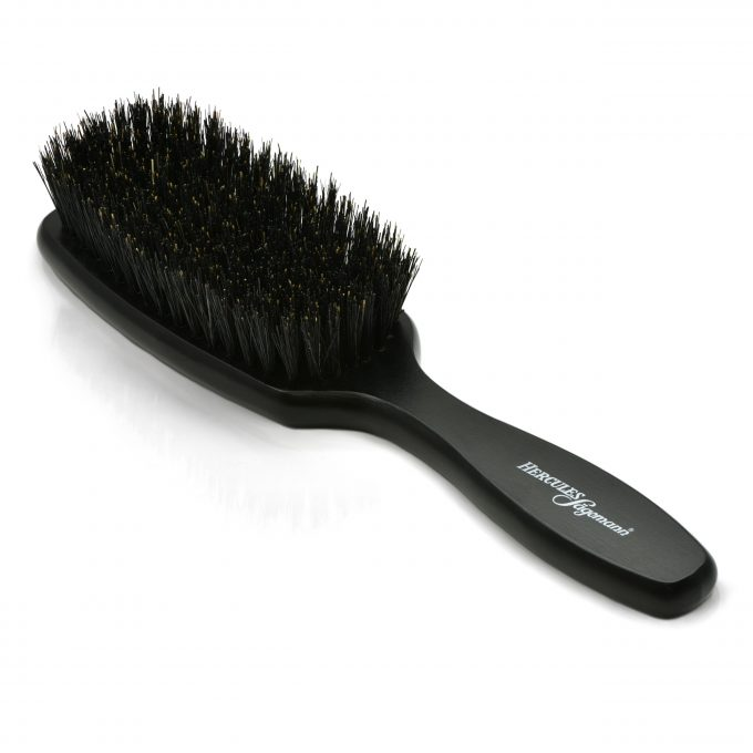 Hercules Sägemann Scalp Brush With Natural Bristles 9742 8 rows for Long Hair